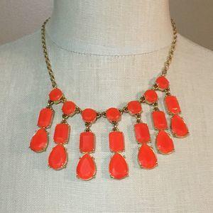 Kate Spade Necklace Orange Stones Gold Hardware
